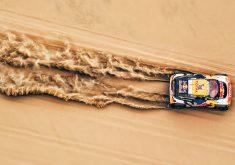 Desert Car Rallying Sand 4K Wallpaper