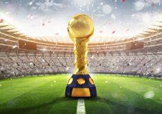 Fifa World Cup Russia 2018 Golden Trophy Stadium 8K Wallpaper