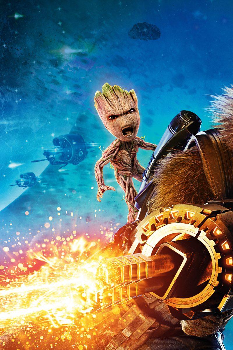 Groot rocket raccoon guardians of the galaxy vol 2 8k - Guardians of the galaxy 2 8k ...