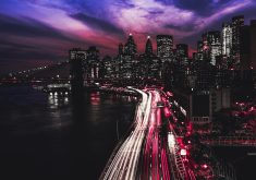 Manhattan City at Night 5K Wallpaper