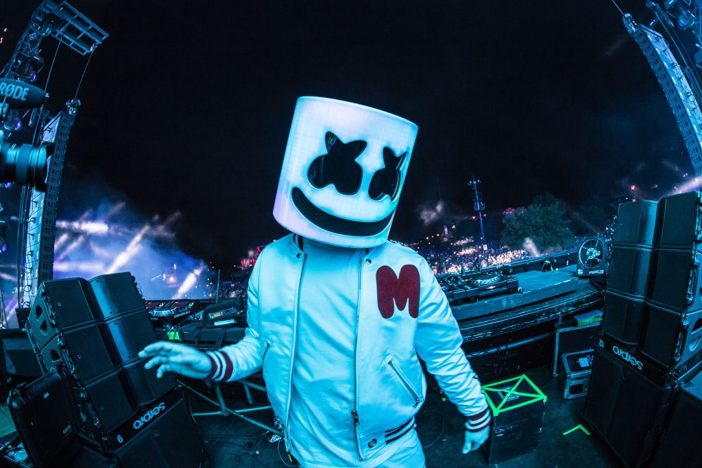 Marshmello DJ on Stage Live 5K Wallpaper