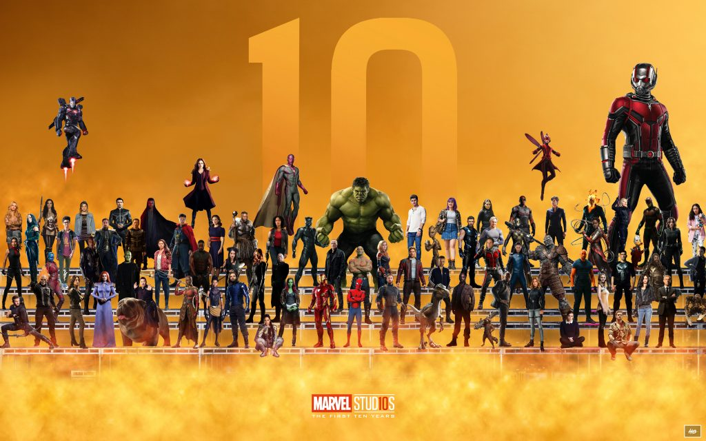 Marvel Superheroes 10 Year Anniversary Artwork 8K Wallpaper