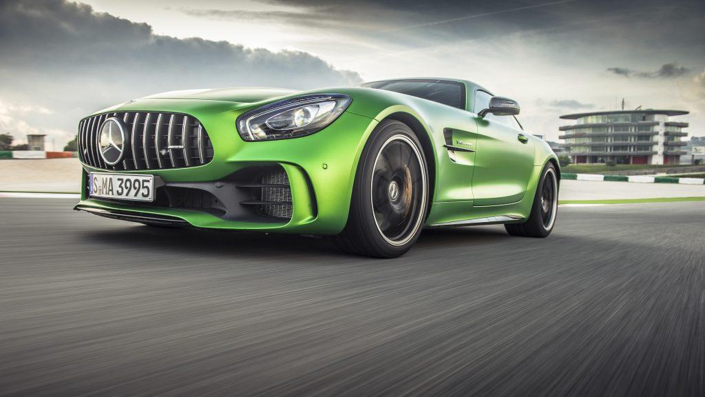 Mercedes-Benz AMG GTR Green 4K Wallpaper