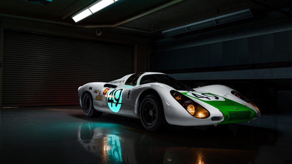 Porsche 907 Car Garage 4K Wallpaper