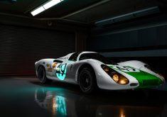 Porsche 907 Car Garage 4K Wallpaper
