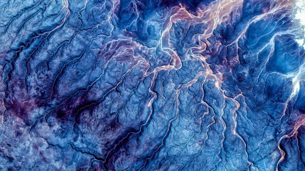 Abstract Design Blue 4K Wallpaper