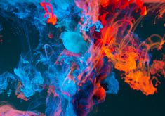 Abstract Swirl Colorful Smoke 5K Wallpaper