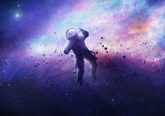 Astronaut Space Rocks Lost Stars Astrology 4K Wallpaper