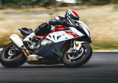 Biker Motorcycle Race Sport White Red 5K Wallpaper