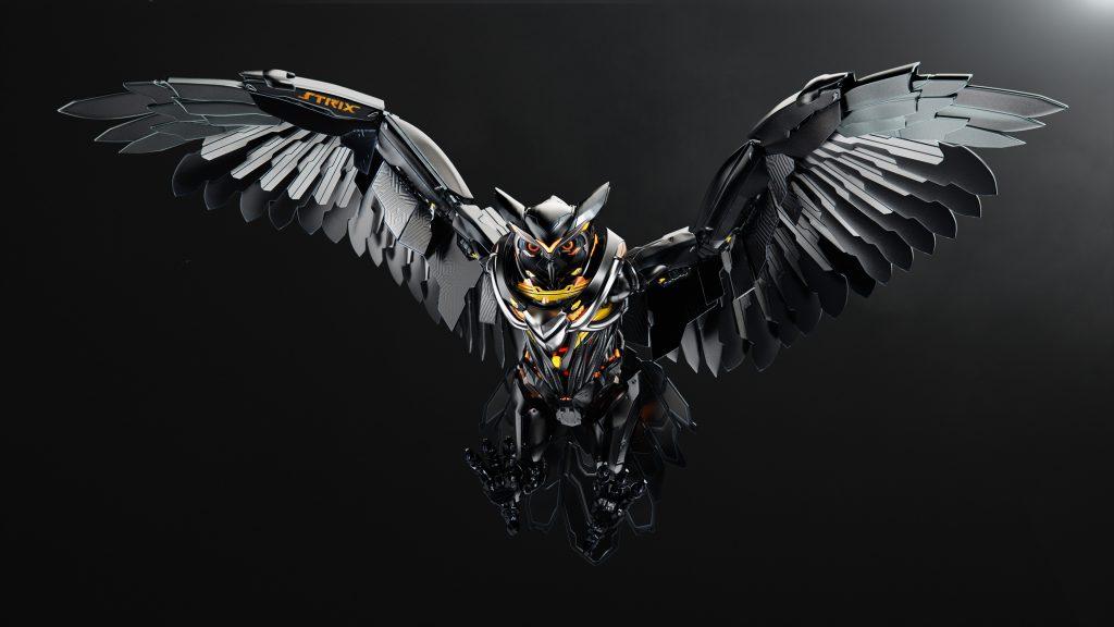 Bird Robot Flying Black 4K Wallpaper