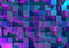 Cubes 3D Abstract Colorful 4K Wallpaper