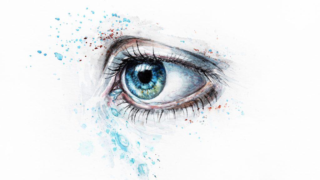 Eye Art Artistic Blue 4K Wallpaper