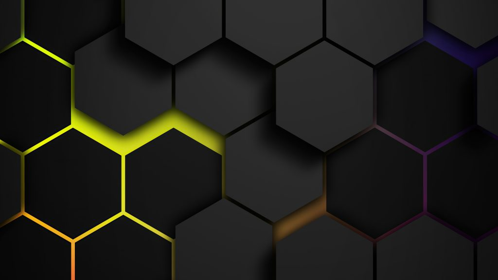 Hexagon Abstract Pattern 5K Wallpaper