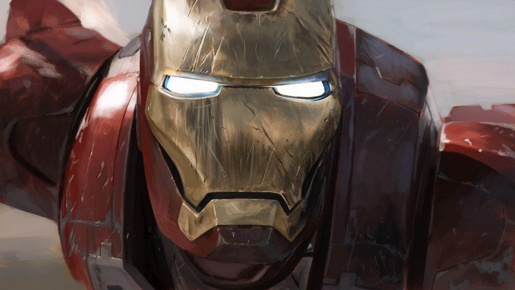 Ironman Closeup Face 4K Wallpaper