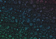 Pattern Gradient Abstract Digital Art Logo 4K Wallpaper