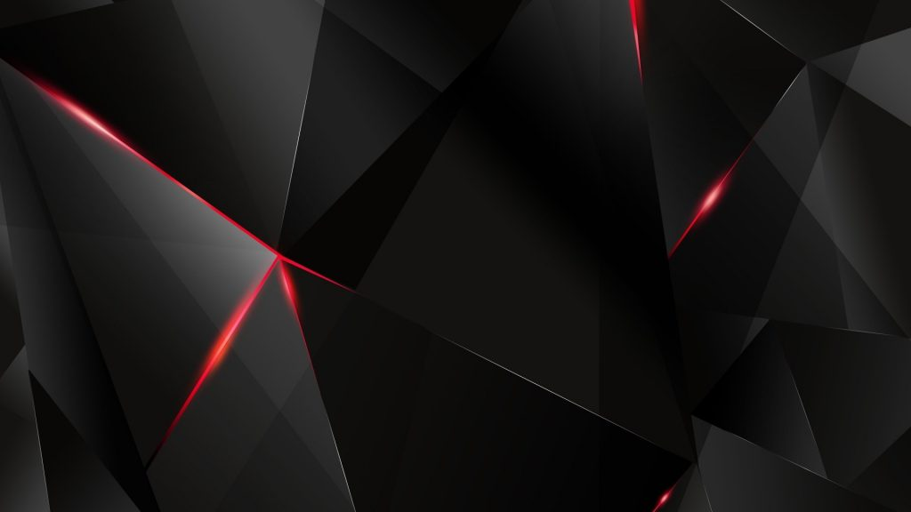 Polygon Abstract Black Red 4K Wallpaper