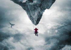 Swing Kid Mountain Fantasy 5K Wallpaper