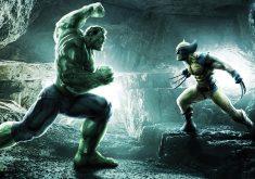 The Hulk vs the Wolverine Cartoon Art 4K Wallpaper
