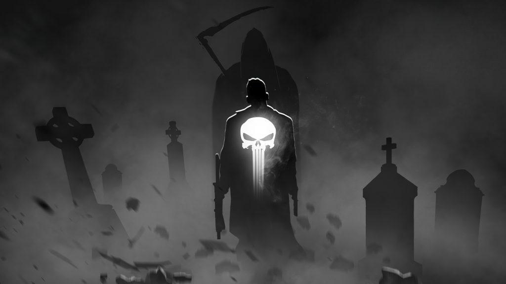 The Punisher Superhero Artwork 4K Wallpaper