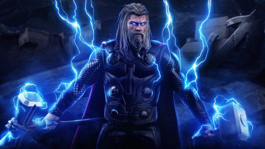 Thor God of Thunder Avenger Endgame 4K Wallpaper