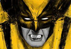 Wolverine Cartoon Art Artistic Yellow 4K Wallpaper
